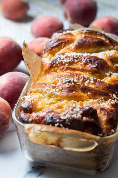 Peaches and Cream Sweet Babka Bread