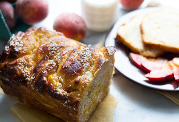 Peaches and Cream Sweet Babka Bread