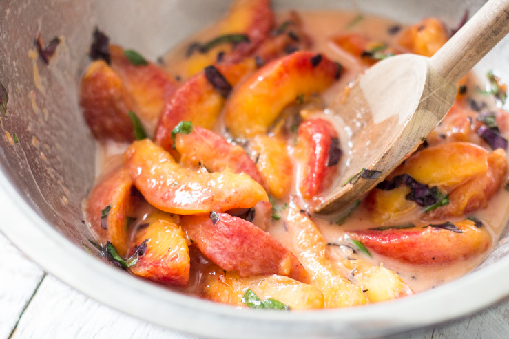 Purple Basil Peach Filling for Pies