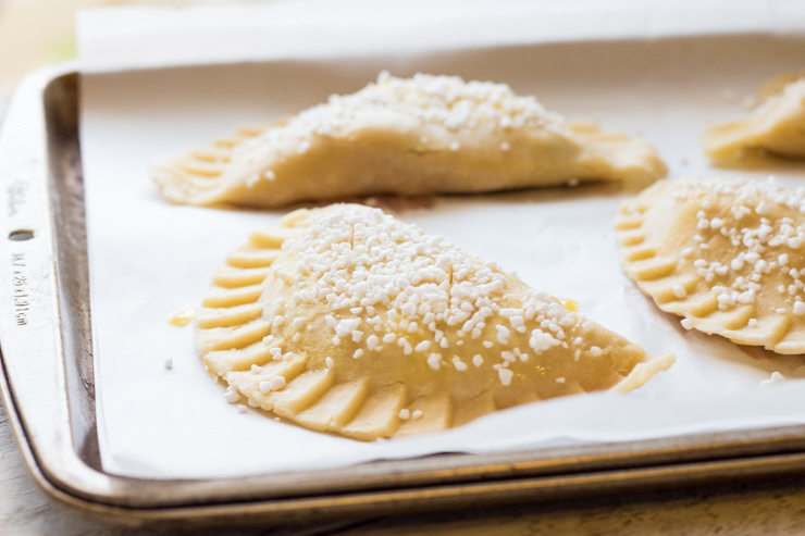 Purple Basil Peach Hand Pies