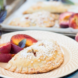 Purple Basil Peach Hand Pies
