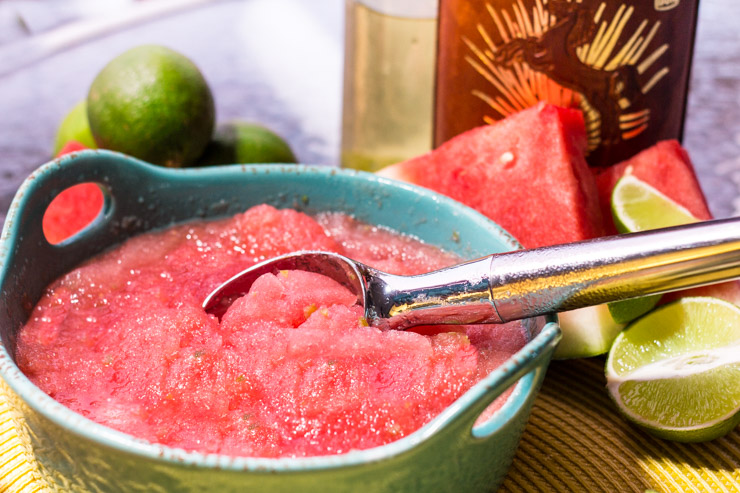 Tequila Lime Watermelon Sorbet