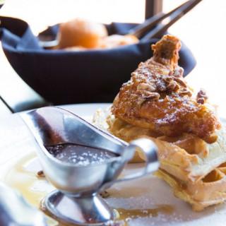 Chicken & Waffles at Grille 29 - Huntsville, AL