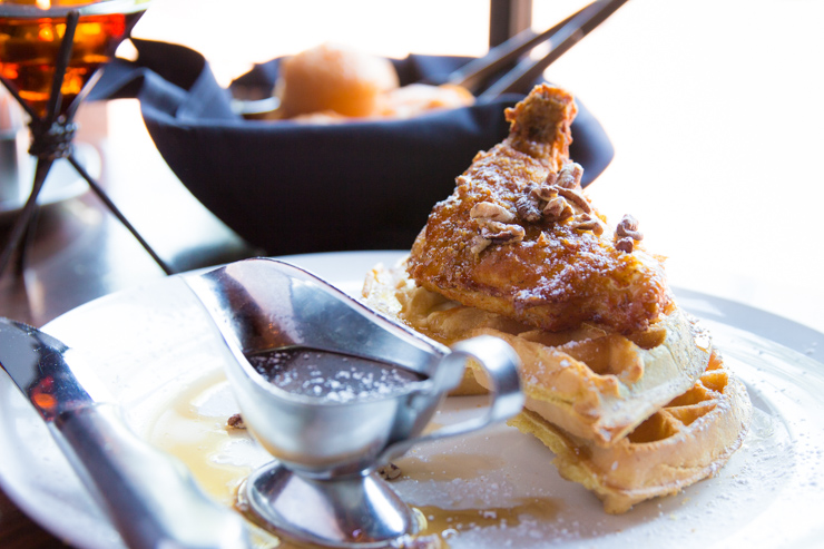 Chicken & Waffles at Grille 29 - Huntsville, AL