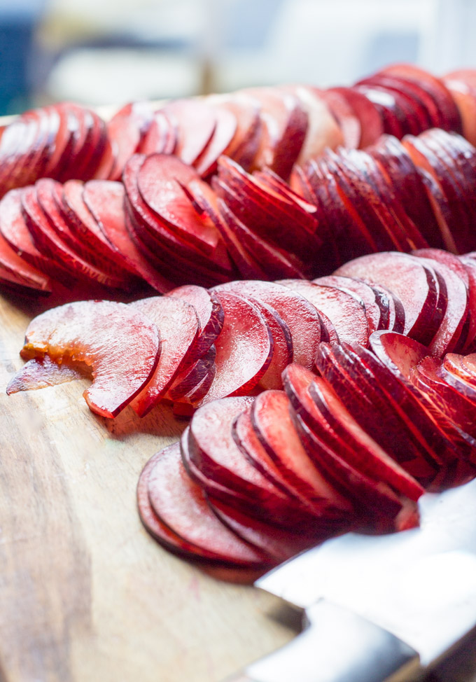 Sliced Pluot Fruit