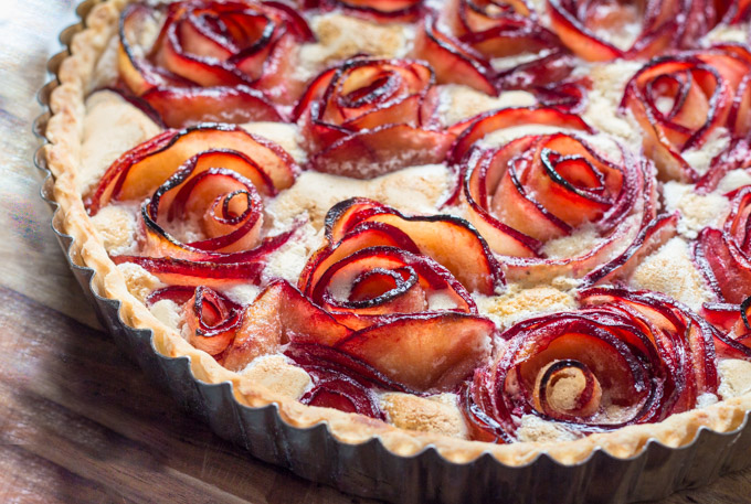 Baked Pluot Meringue Tart
