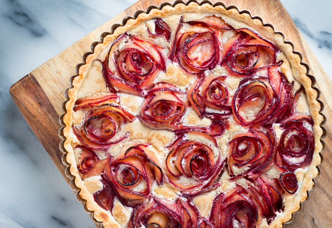 Baked Pluot Meringue Tart