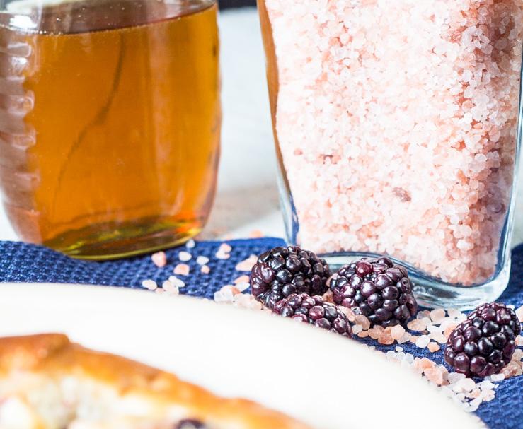 Pink Salt for Blackberry Goat Cheese Focaccia