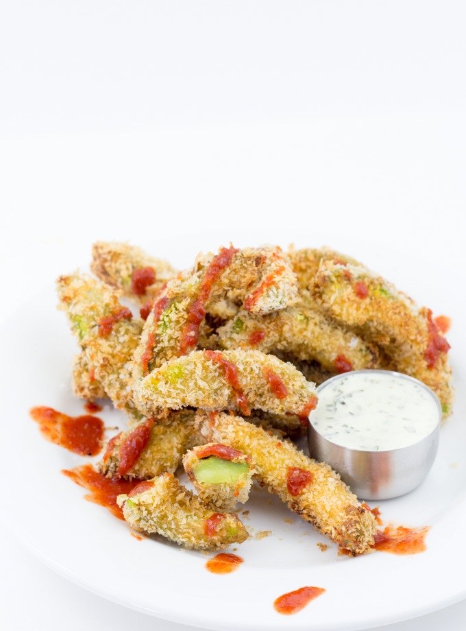 Sriracha Baked Avocado Fries