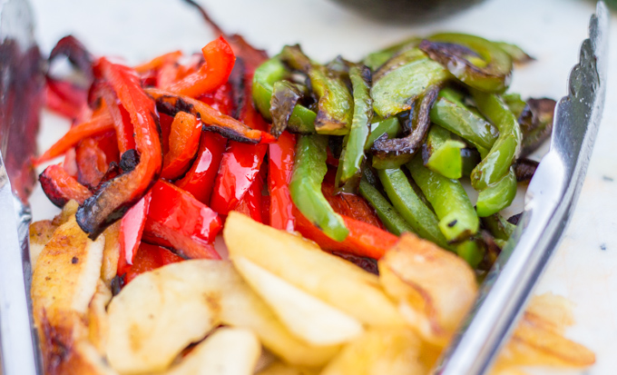 Grilled Peppers and Apples for Fajitas