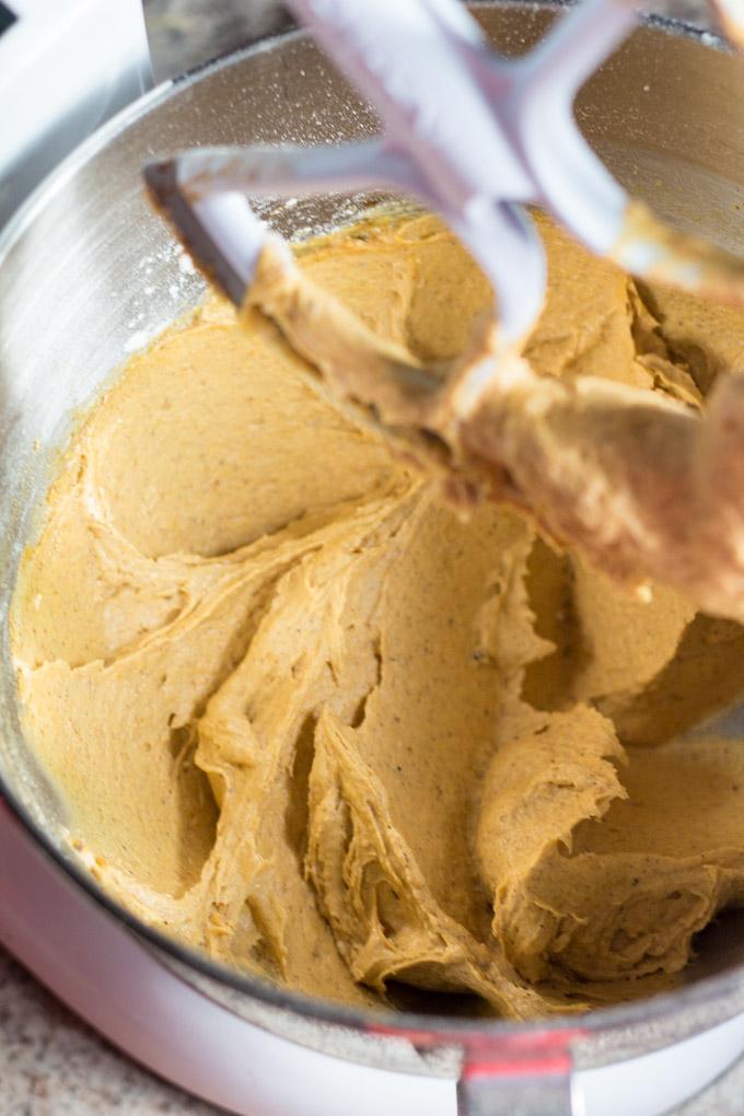 Brown Butter Pumpkin Oatmeal Cookie Dough
