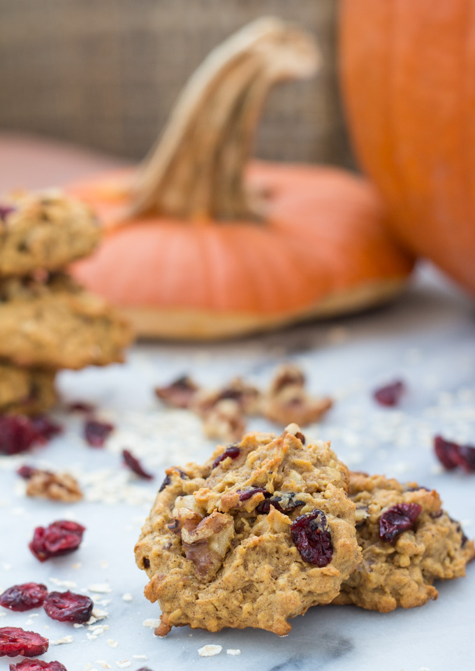Brown Butter Pumpkin Oatmeal Cookies