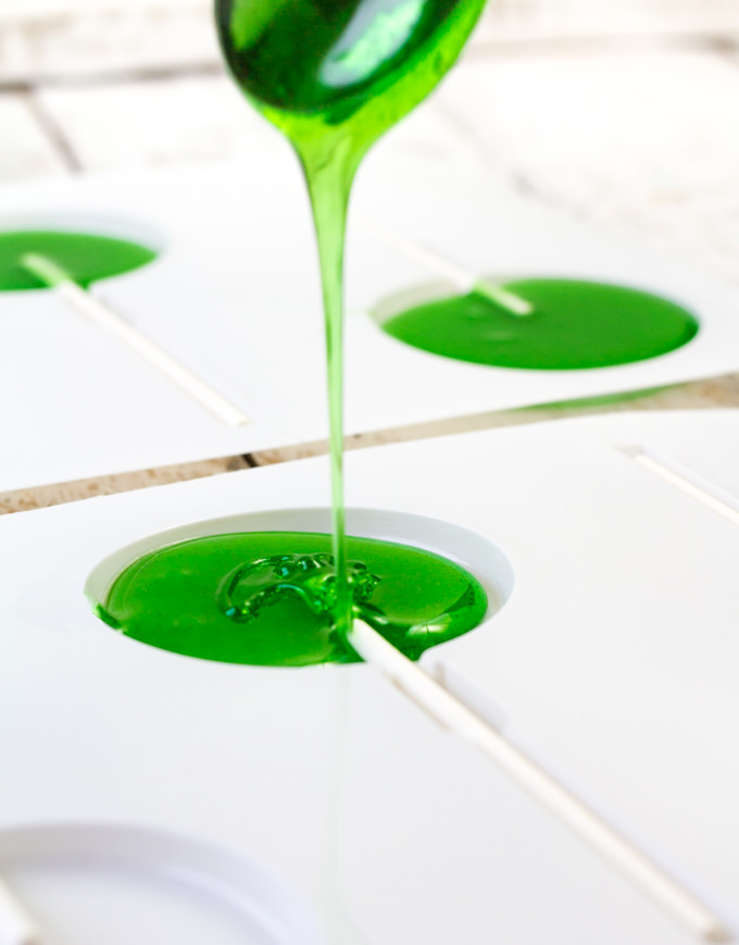 Pouring the Sour Apple Pops