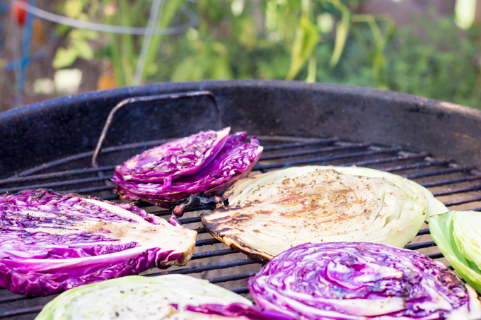 Grilling Cabbage for Slaw