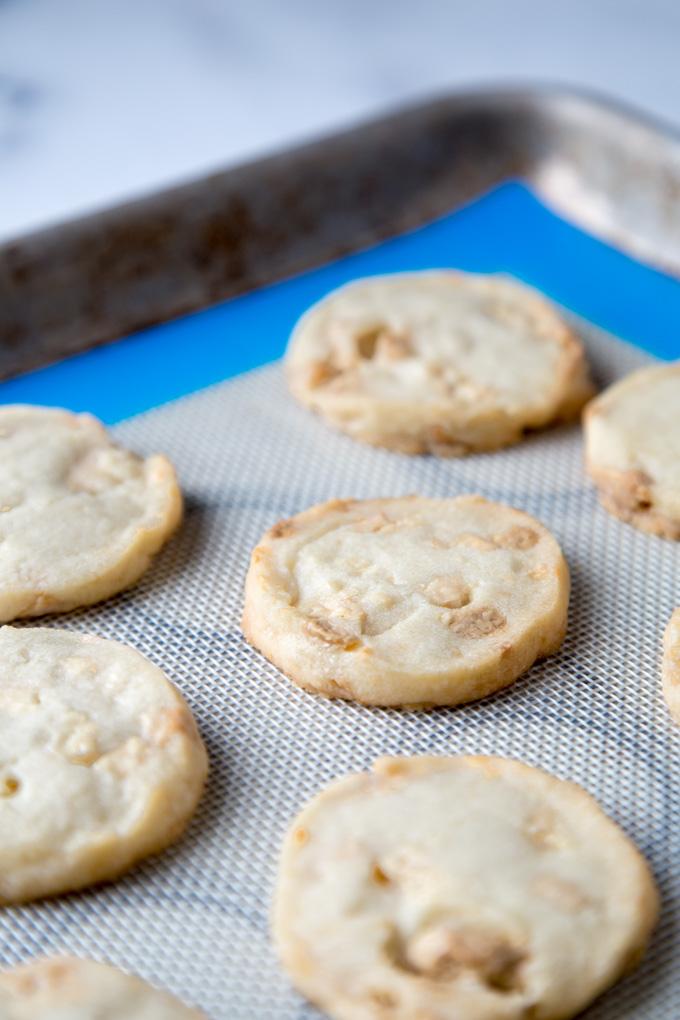 White chocolate Chunk Shortbread Cookies