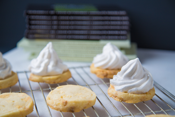 White Chocolate Chunk Cookies with Marshmallow