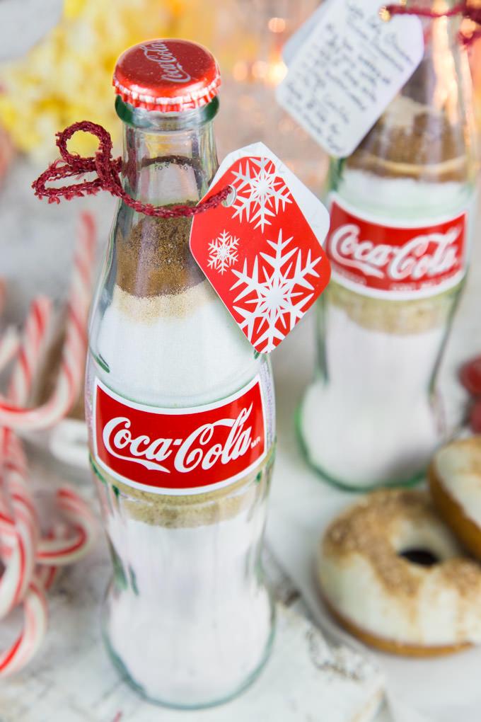 DIY Coca Cola Doughnuts in a Bottle Gift