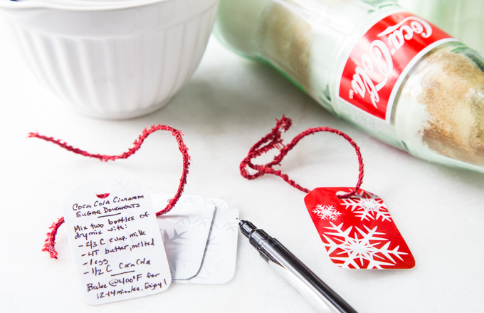 DIY Coca-Cola Donut Bottle Mix Tags