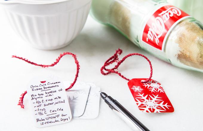 DIY Coca-Cola Donut Bottle Mix Tags