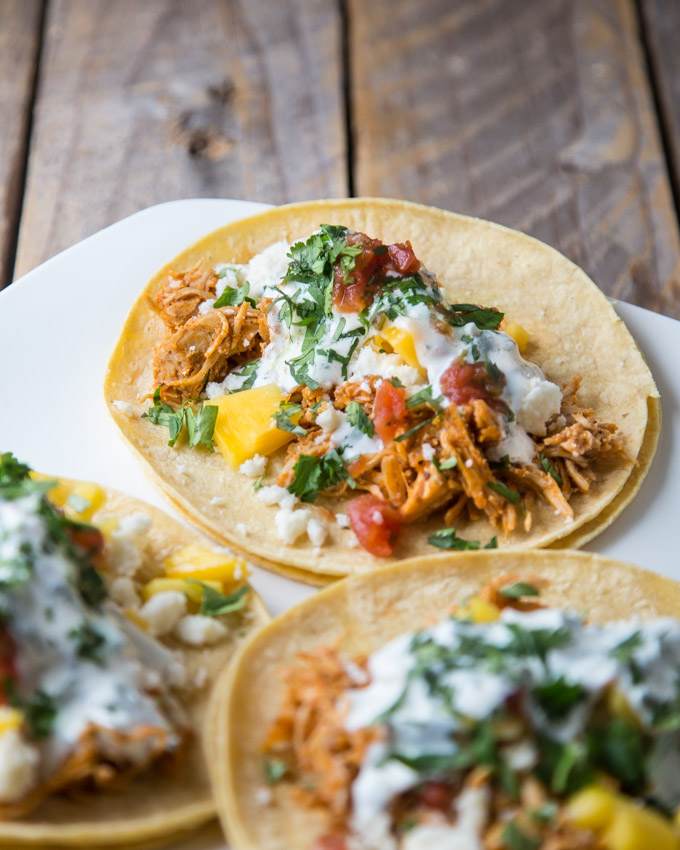 Tinga Chicken Tacos