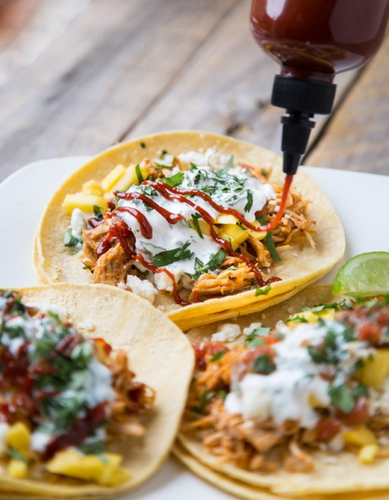 Chicken Tinga Tacos with Mango | Southern FATTY