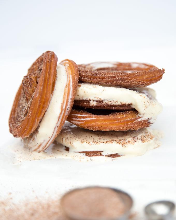 Churro Ice Cream Sandwiches