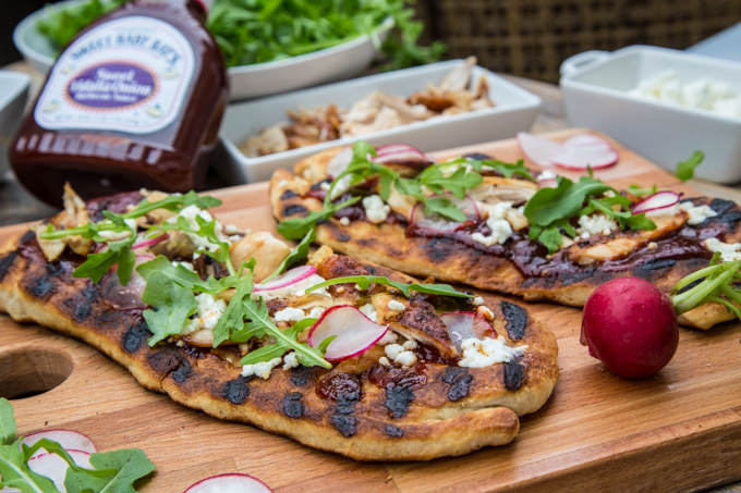 Rotisserie Chicken BBQ Grilled Flatbread