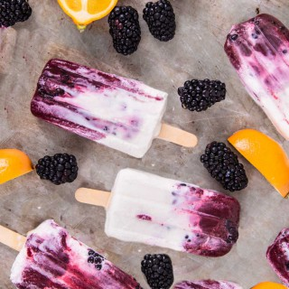 Blackberry Lavender Cream Paletas