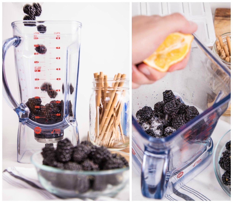 Blackberry Puree for Paletas
