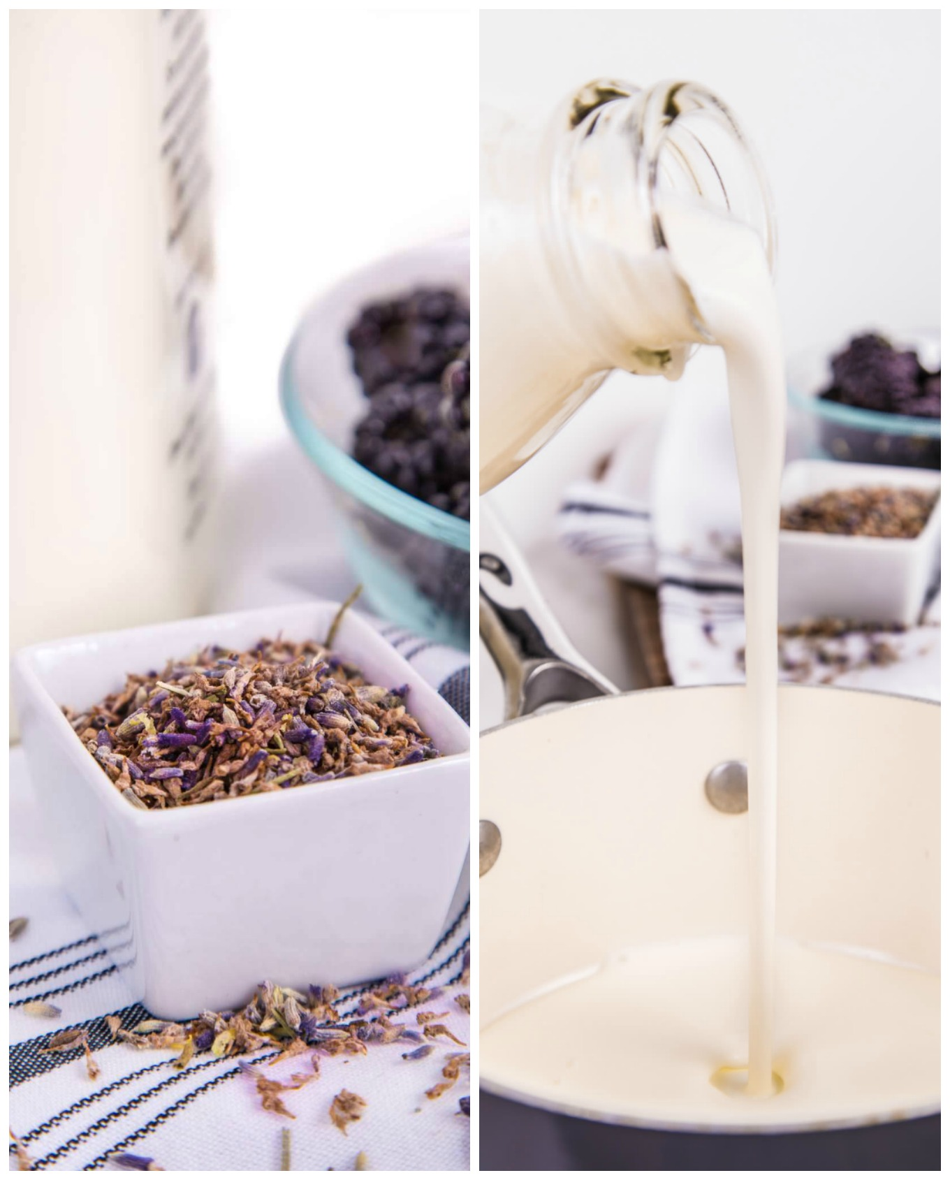 Making the Lavender Cream for the Paletas