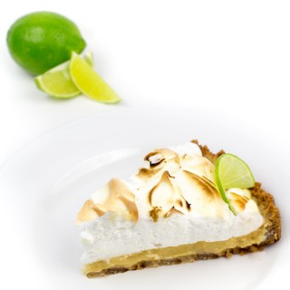 Key Lime Kiki Meringue Tart with Almond Graham Crust