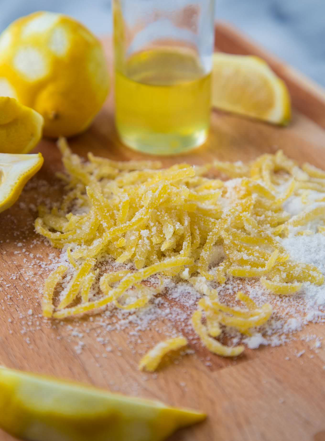 Limoncello Candied Lemon Zest