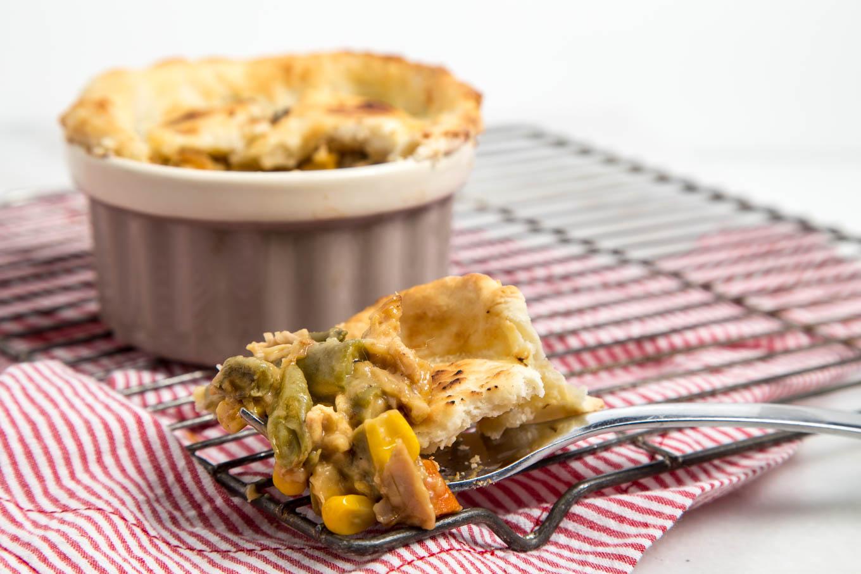 Chicken Pot Pie for One
