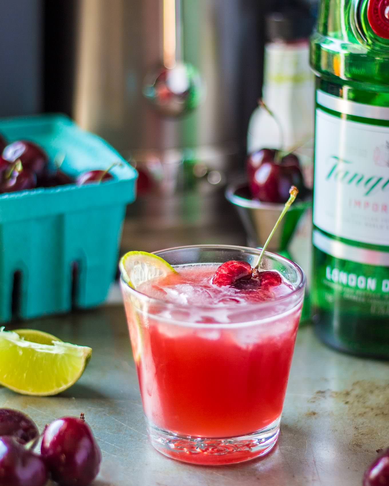 Drink With Gin: Loaded Cherry Gin Fizz