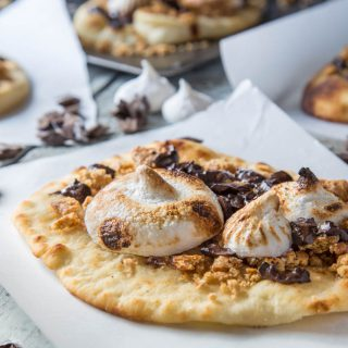 Naan Campfire S'mores on SouthernFATTY.com