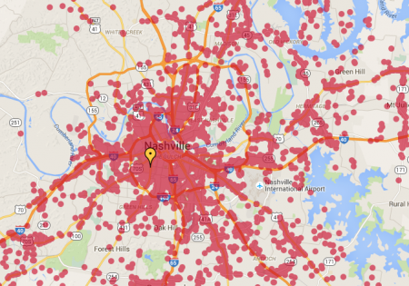 Xfinity Wifi Hot Spots in Nashville
