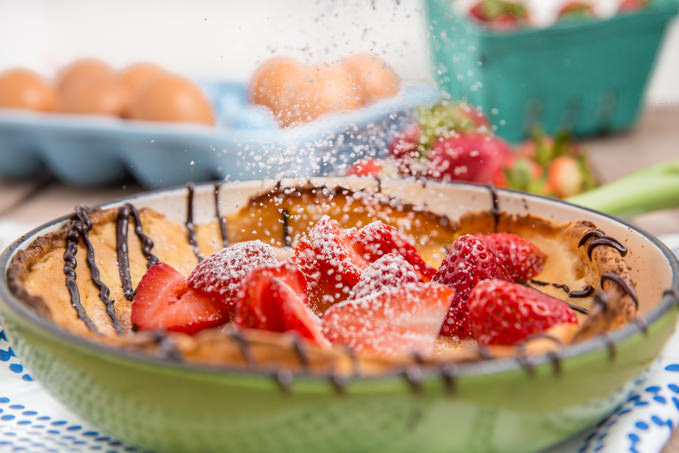 Strawberry Almond Dutch Baby