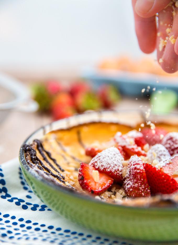Strawberry Almond Dutch Baby