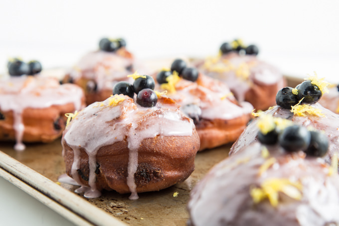 Blueberry Cake Donuts from SouthernFATTY.com