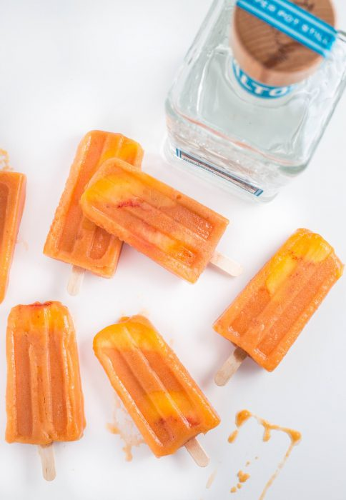 Jalapeño Peach Tequila Popsicles from SouthernFATTY.com