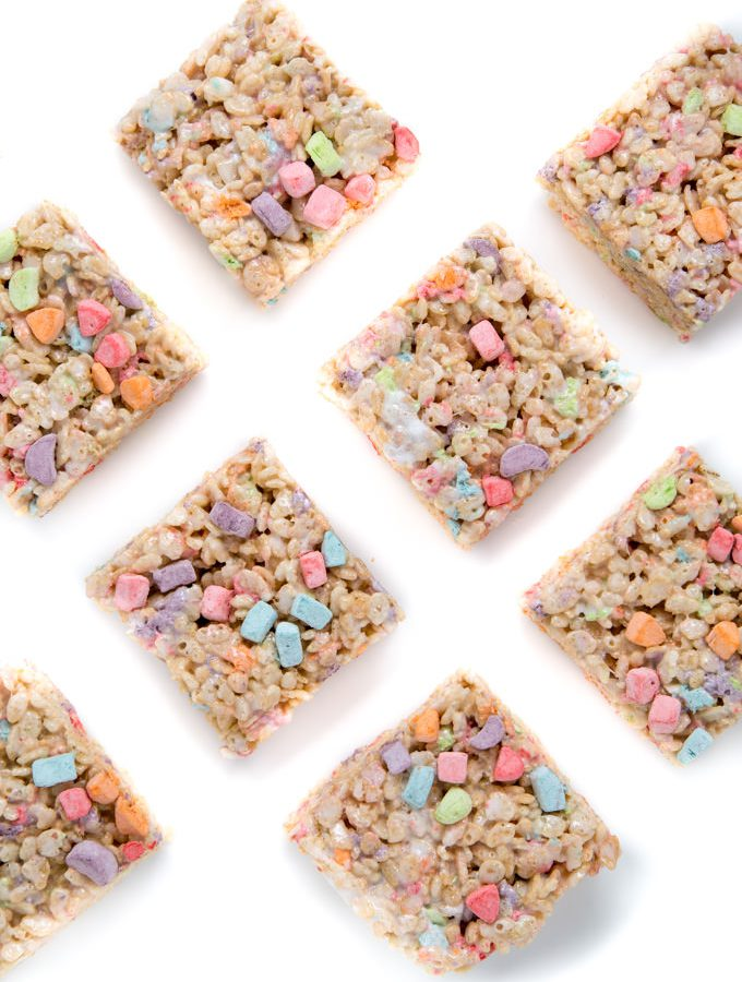 Lucky Charms Marshmallow Treats from SouthernFATTY.com