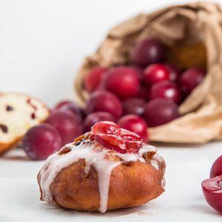 Plum Glazed Cake Donuts