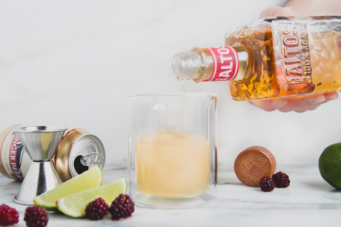 Frozen El Diablo Cocktail on SouthernFATTY.com