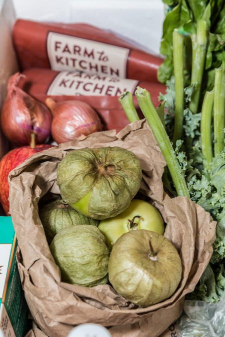 Tomatillos and Radishes from Green Bean Delivery
