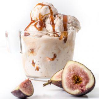 Fig Bourbon Caramel Gelato
