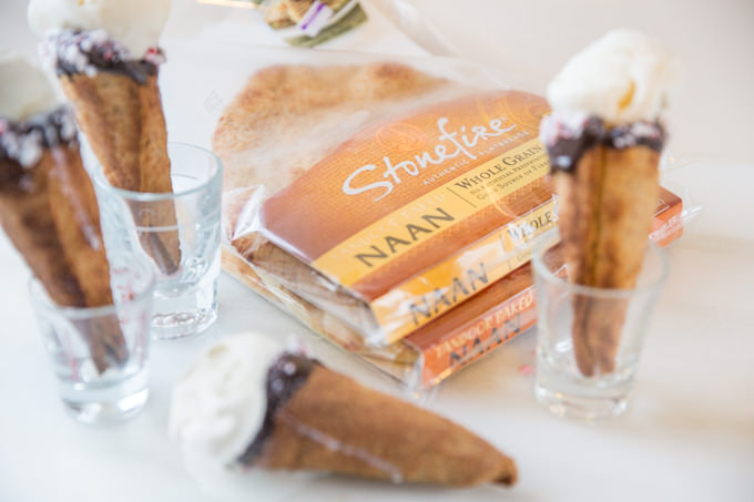 Naan Ice Cream Cones by SouthernFATTY.com