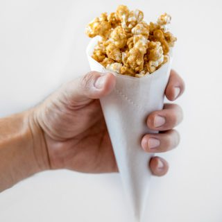 Whiskey Cream Caramel Popcorn