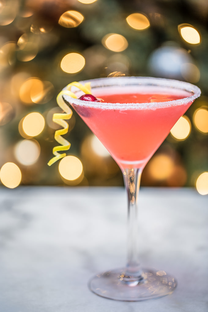 Cranberry Lemon Drop Martini from SouthernFATTY.com