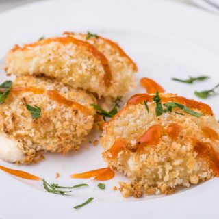 Honey Hot Crispy Baked Cheese Bites