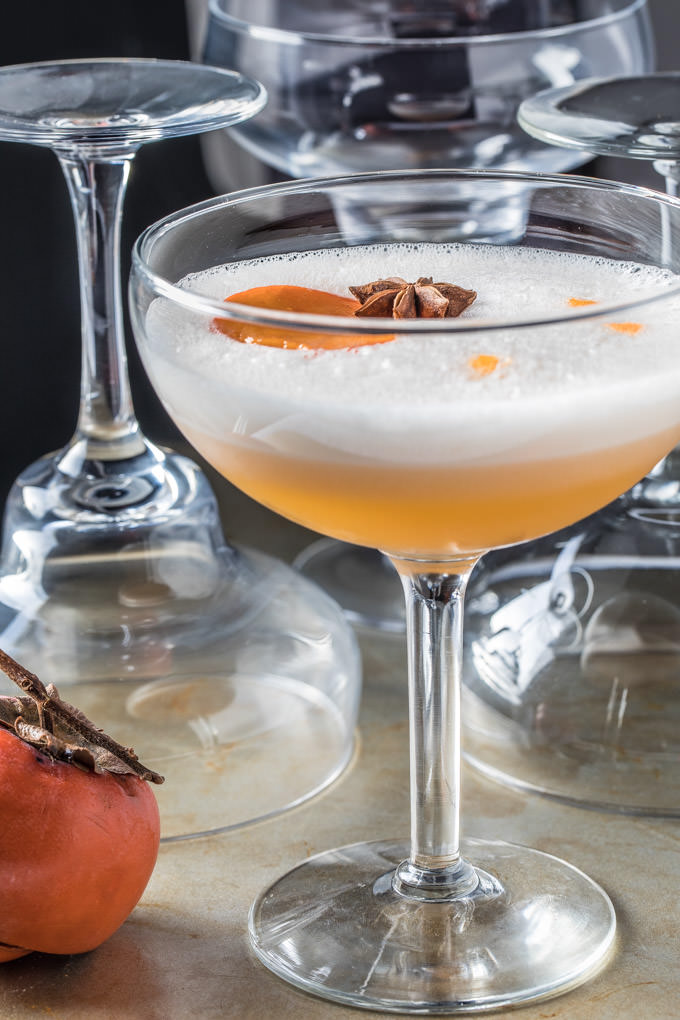 Persimmon Ginger Gin Fizz
